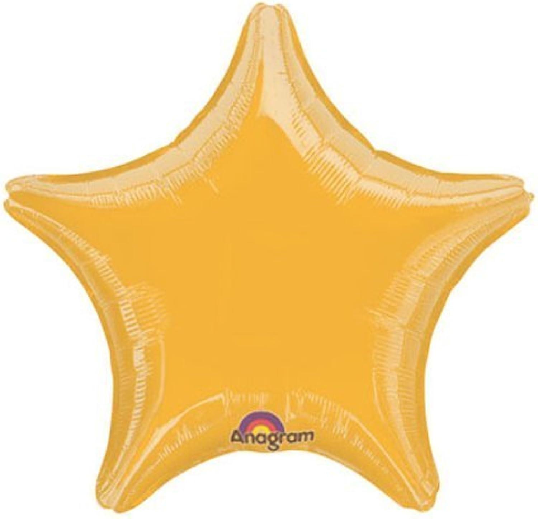 marca de lujo oro Estrella Estrella Estrella 18 Mylar Balloons (10 Pack) by Anagram  contador genuino