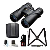 Nikon 7576 Monarch 5 8x42 Waterproof/Fogproof Roof Prism Binoculars Bundle with Lens Cleaning Brush & Essential Accessories (5 Items)