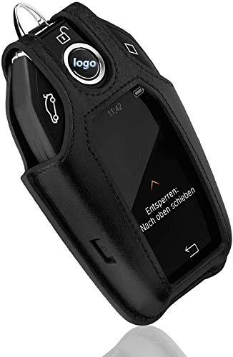 LFOTPP Kompatibel mit Leder Schlüsselanhänger Neu 5er 7er Neuen X3 Schwarz
