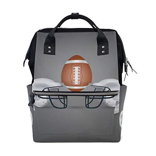 Xiumeimei Sport Rugby Ball Diaper Bags Mummy Tote Bags Large Capacity Multi-Function Backpack