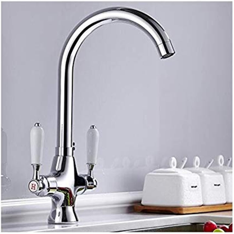 Faucet Kitchen Washing Basin Modern Brass Kitchen Faucet Chrome Kitchen Sink Faucet Cold and Hot Water Mixer Tap Saving Water