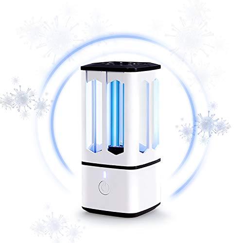 Tragbare UVC Licht Desinfektion, Waflyer UV-keimtötende Lampe Mimi UVC Sterilisationslampe UV Lampe Sterilisator für Auto, Kühlschrank, Schlafzimmer, Küche, Schuhschrank, Waschmaschine,Schublade-Weiß