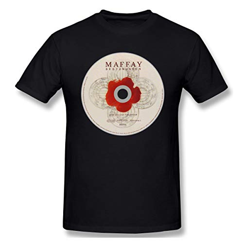Liteschi Herren Peter Maffay Cool T-Shirt Black 6XL Mit Herren-Kurzarm