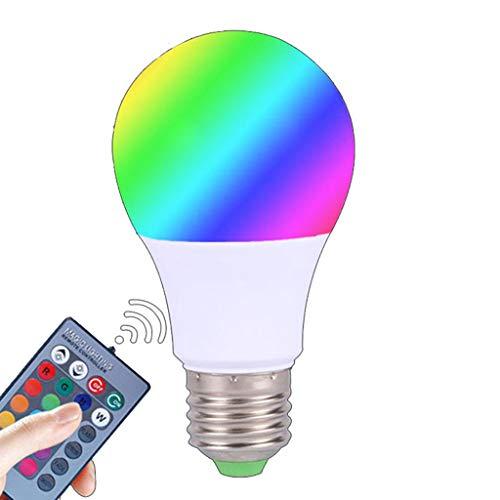 YFAX, Bombilla LED Regulable, Bombilla Que Cambia de Color, Bombilla LED Decorativa Multicolor sin Necesidad de concentrador con aplicación para Fiesta en casa (no admite WiFi / Alexa)