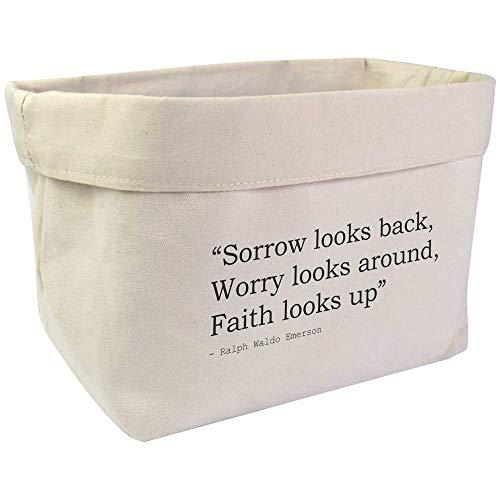 Azeeda Large Religion Quote By Ralph Waldo Emerson Canvas Organiser / Storage Bag (OR00005095)