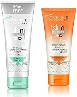 Eveline Slim Extreme 3D Spa Intensely Slimming Firming Serum & Moisturizing Shower Scrub