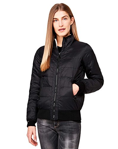 United Colors of Benetton Damen Jacke Jacket, Schwarz (Black White 100), 40 (Herstellergröße: 44)