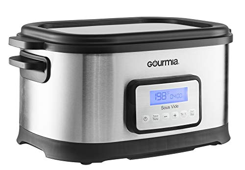 Gourmia GSV550 9 Qt Sous Vide Water Oven Cooker with Digital Timer and Temperature controls - Stainless Steel - Includes Rack- Includes Free Recipe Book