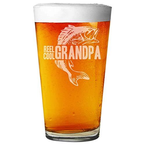 Shop4Ever Reel Cool Grandpa - Vaso de pinta de cerveza con grabado láser