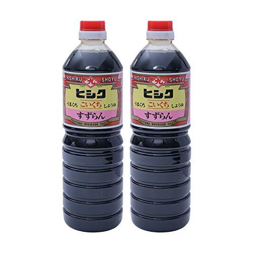 [藤安醸造(ヒシク)] 醤油 すずらん しょうゆ 1L×2本 甘口の高級しょうゆ