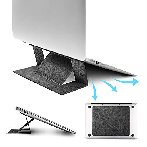 【2019本革】ノートパソコン スタンド 折りたたみ 軽量 pcスタンド 冷却 携帯便利 laptop stand タ...