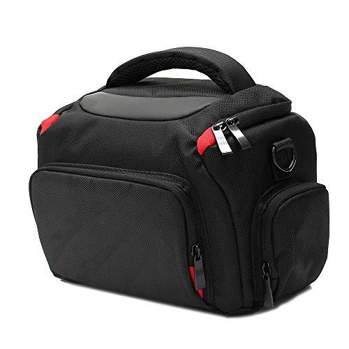 Camera Cases DSLR SLR Camera Camera Lens Flash Camera Storage Travel Carry Bag With Rain Cover Strap For storing cameras (Color : Black, Size : One size)
