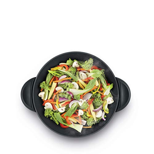 Breville Electric Wok with A Steamer, Brushed Stainless Steel BEW820BSS