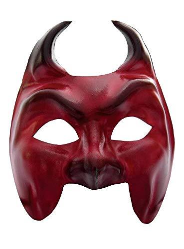 Andracor Venezianische Maske - Colombina Diavolo Venezianische Ledermaske