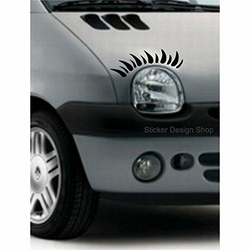 Sticker Design Shop Twingo Wimpern Autoaufkleber Stiker Tuning Auto Aufkleber Beetle Mini Lupo Clio