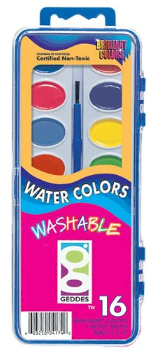 Raymond Geddes 16 Color Watercolor Paint Set, 6 Pack
