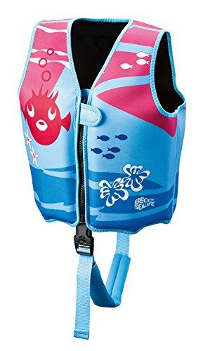 Beco 09639-004 Sealife Schwimmlernweste, Mehrfarbig (blau/pink), M