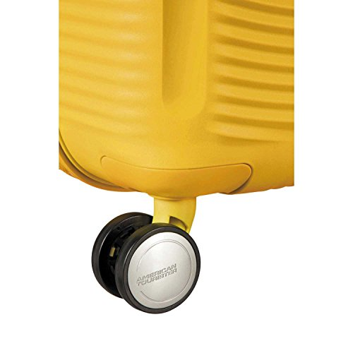 American Tourister Curio Hardside Luggage with Spinner Wheels, Golden Yellow