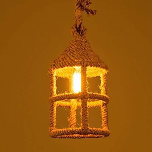 Lyuez Restaurant-Dekoration-Lampe Energiespar Kronleuchter Industriehandmade Hanf-Seil-Leuchter kreative Bar Kaffee Thema Halle Bar Kleiner Kronleuchter