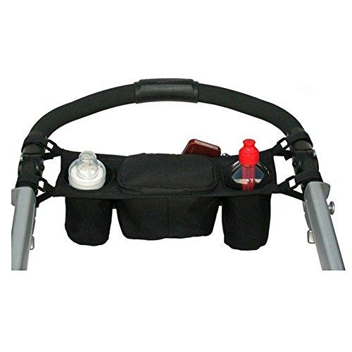 HpybestUK Cochecito de bebé Organizador Cochecitos de bebé Portavasos bolsa para cochecito de bebé Accesorios silla de ruedas