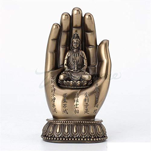 Statues Sculpture Figurines Statuettes,Kreative Harz Avalokiteshvara Hand Buddha Figur Figur Skulptur Sammlerstücke, Schmuck Desktop Handwerk Kunst Dekor Statuetten Für Indoor Living Room Bar Home