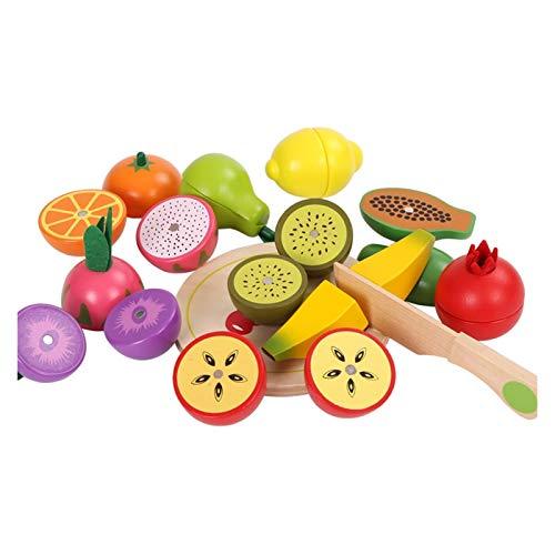 YYQIANG 3-7 años de Edad para niños Regalo de cumpleaños de Madera Corte de Madera Frutas y Verduras Corte Corte Música Magnético Bebé Corte Corte Verduras Juguete Niños Aficiones i