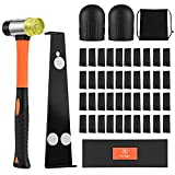 One Sight Upgraded Professional Laminate Wood and Vinyl Flooring Installation Tools Kit with Reinforced Mallet, Upgraded Pull Bar, Durable Tapping Block, 40 Spacers, 2 Knee Pads and 1 Backpack