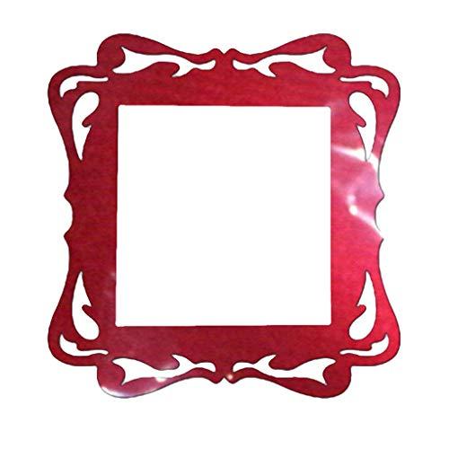 zhibeisai Home Switch Acryl-Abdeckung Platz Schalter nach Hause Lichtschalter Aufkleber Wandleuchte Sockelverkleidung Aufkleber Wohnzimmer-Dekoration, Rot rot