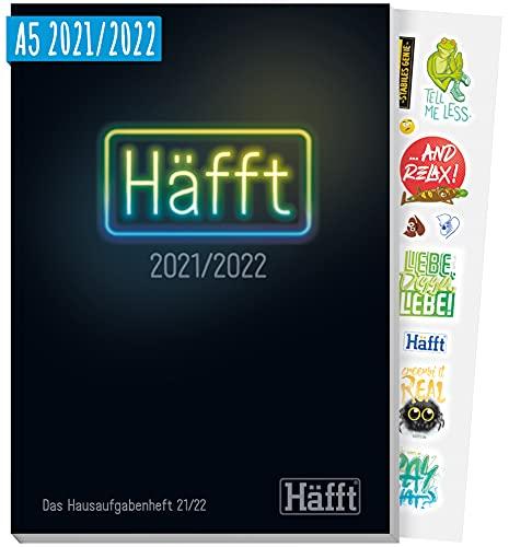 Häfft Original - Das Hausaufgabenheft 2021/2022 A5 [Neon Black] ultimativer Schülerkalender, Schülerplaner   nachhaltig & klimaneutral