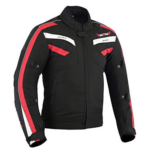 Chaqueta impermeable y transpirable para motocicleta, de tela Cordura y aprobada por la CE, para hombres y niños, en 3 colores diferentes rojo