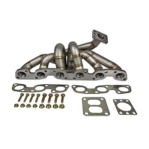 Rev9 HP-MF-RB26-T4-11G Stainless Steel Turbo Manifold, Equal Length 11 Gauge Thickness, T4 Turbo Flange, Top Mount Style, compatible with Nissan RB26DETT Engine Motor