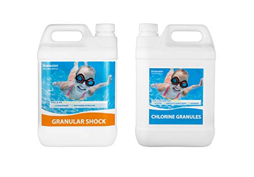 Bluewater Stabilised Chlorine Granules 5kg & Granular Shock 5kg Swimming...