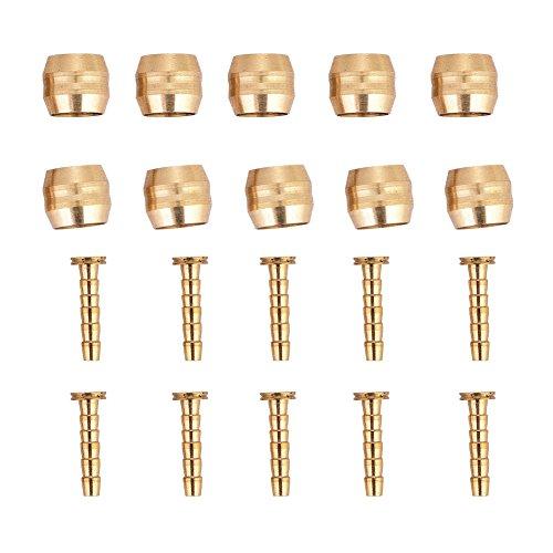 Manguera de Freno Oliva y Insertar Conjunto de Conectores 10 Set para Shimano SM-BH90 / BH59 Manguera de Disco Hidráulico(BH59)