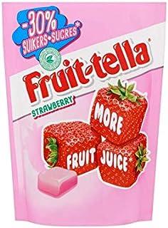 Caramelos masticables de fresa | Fruittella | Fresa -30% de azúcar | Peso total