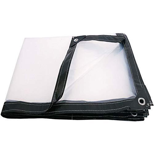 Cortina de lona transparente para exteriores, Impermeable Anti Congelación Película Impermeable A Prueba De Lluvia Toldo De Aislamiento Cubierta De Plástico PE(Size: 3x4m/9.8x13.1ft)