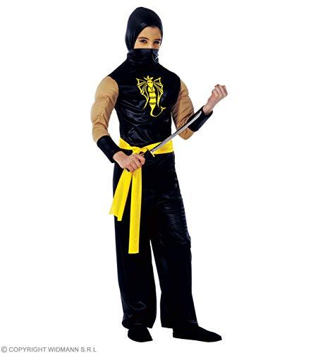 Widmann wdm38757 ? Costume pour enfants Power Ninja (140 cm/8 ? 10 ans), noir, XS