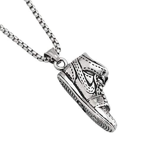 Halskette,Herren Schmuck Halskette Hip Hop Basketball Schuhe Halskette Titan Stahl Männer Und Frauen Anhänger Anhänger