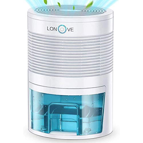 LONOVE Electric Dehumidifier - 1000ml Small Dehumidifiers for Home Bedroom...