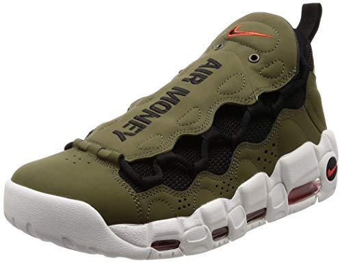 Nike Herren Air More Money Sneakers Mehrfarbig (Medium Olive/Black/Habanero Red 001) 42.5 EU