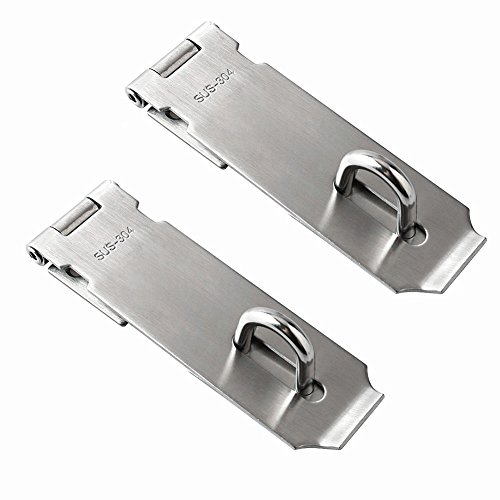 Jsentai Security Hasps for padlock, Heavy Duty 304 Stainless Steel Security Hasps with Mounting Screws 5