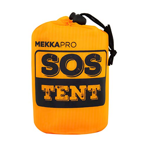 MEKKAPRO Tienda de campaña de supervivencia de emergencia – tienda de campaña para 2 personas – refugio de supervivencia de emergencia, tienda de campaña, lona
