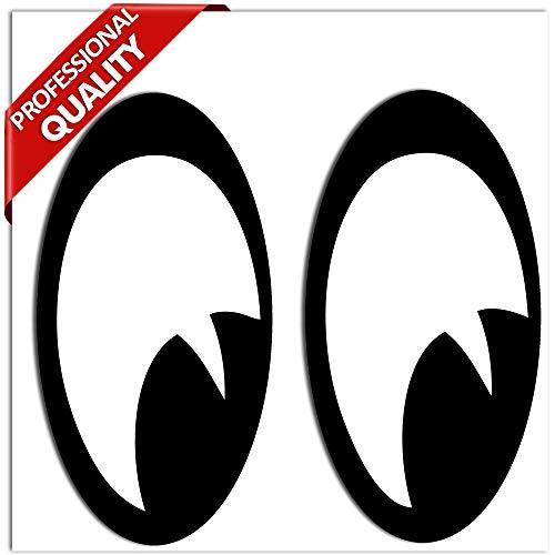 SkinoEu® 2 Stück Vinyl Lustiger Aufkleber Autoaufkleber Funny Stickers Augen Auto Moto Motorrad Fahrrad Skate Helm Fenster Spiegel Tür Tuning B 85