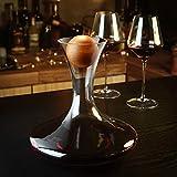 Amisglass Dekanter, Weinbelüfter Dekantierer für Rotwein, Mit Zubehör (Korkverschluss) - 100% bleifreie Weinkaraffe aus Kristallglas - Weinbelüfter Dekantierer für Rotwein - Einzigartige Geschenkidee - 4