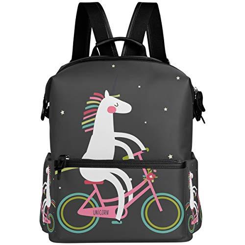 Oarencol - Mochila divertida con diseño de unicornio para bicicleta, diseño de estrella mágica