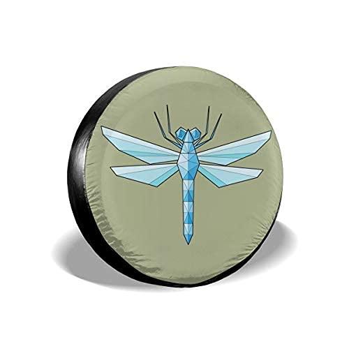 Qian Mu888 Dragonfly - Cubierta de repuesto para neumáticos a prueba de agua UV para remolques, RV, SUV y muchos vehículos de 17 pulgadas
