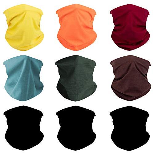 Outdoor Magic Headbands Bandana Scarf Neck Gaiter Hairwraps Face Mask UV Resistence Seamless Headwear 9PCS