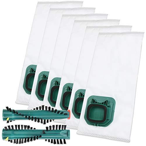 AVR-Handel 6 Staubsaugerbeutel Typ VS 145 und Bürsten passend für Vorwerk Kobold VK 140 / VK 150 mit EB 360/370