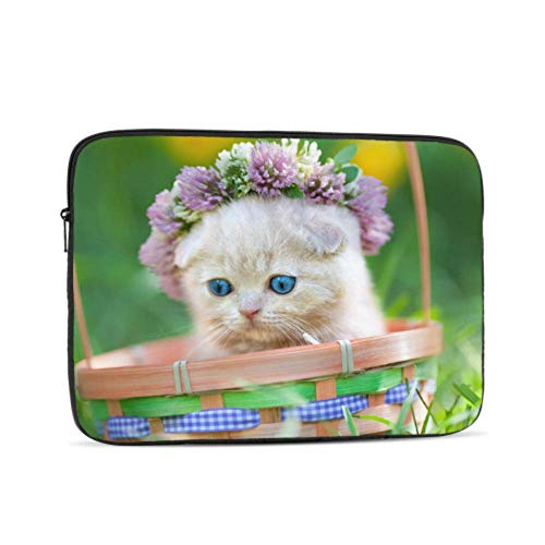 MacBook Pro Laptop Case Cats in Flower Pots Laptop Shell Multi-Color & Size Choices 10/12/13/15/17 Inch Computer Tablet Briefcase Carrying Bag
