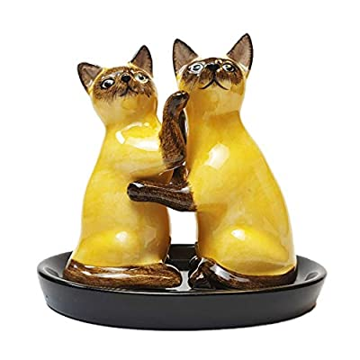 Lovely Cute Novelty Ceramic Siamese Cat Salt and Pepper Set, great gift / present for Cat Lovers