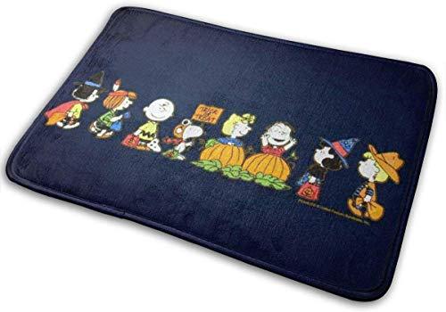 """GOU39-WCT Felpudos de Bienvenida Felices Halloween Snoopy Alfombras de Interior para Exteriores Alfombras de Entrada Alfombrillas de Goma Antideslizantes 15.8""""X23.6 Pulgadas"""